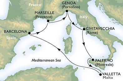 crociera msc mediterraneo